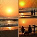 Sunset - Orange Beach Collage by Kip Krause
