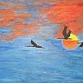 Sunset Cranes by Sonali Gangane