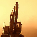 Sunset Excavator by Olivier Le Queinec
