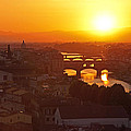Sunset Florence by Susan Rovira