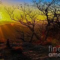 Sunset From Blood Mountain by Barbara Bowen