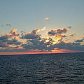 Sunset From The Carnival Triumph by Susan Wyman