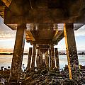 Sunset From Under The Pier by Greg Nyquist