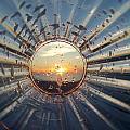 Adelaide Beach Sunset Glass by Ian Mcadie