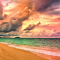 Sunset Glow At Waimanalo by Dominic Piperata