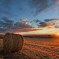 Sunset Hay by Des Jacobs