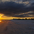 Sunset In Cape May Along The Beach by Bill Cannon