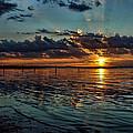 Sunset In Cyan by Carolyn Fletcher