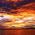 Sunset In Long Beach Ms by Teresa Parker
