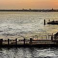 Sunset In Manhattan Pier by Maria isabel Villamonte