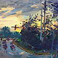 Sunset In Military Highway Norfolk Va by Ylli Haruni