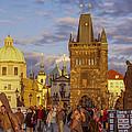 Sunset In Prague by Raffi  Bashlian