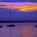 Sunset In Skerries Harbor by Patricia Griffin Brett