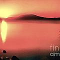 Sunset In The Balaton Lake by Odon Czintos