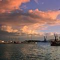 Sunset In The Port by Tedi  Ivanova