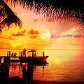Sunset Key Largo Florida - 2 by Larry Mulvehill