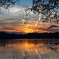 Sunset Lake Horicon Lakehurst New Jersey by Terry DeLuco