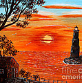 Sunset Lighthouse by Barbara Griffin