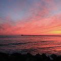 Sunset Longport N.j. by Valerie Stein