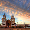 Sunset Majesty Mission San Xavier Del Bac by Bob Christopher
