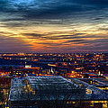 Sunset Metro Lights And Splendor by Sennie Pierson