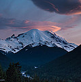 Sunset Mount Rainier by Mike Reid