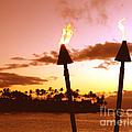 Sunset Napili Maui Hawaii by Jerome Stumphauzer