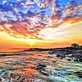 Sunset Near Old Kona Airport by Dominic Piperata