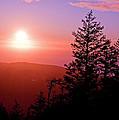 Sunset Off Mt Erie Washington Art Prints by Valerie Garner
