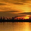Sunset - Ohio River by Sandy Keeton