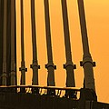 Sunset On A Bridge by Michelle Powell