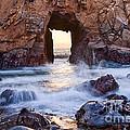 Sunset On Arch Rock In Pfeiffer Beach Big Sur California. by Jamie Pham