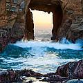 Sunset On Arch Rock In Pfeiffer Beach Big Sur. by Jamie Pham