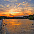 Sunset On Boathouserow by Alice Gipson