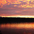 Sunset On Cayuga Lake Cornell Sailing Center Ithaca New York II by Paul Ge