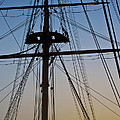 Sunset On Hms Warrior by Terri Waters