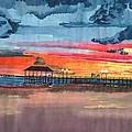 Sunset On Lake Jackson by Beverly Marshall