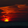 Sunset On Lake Michigan by Roland Strauss