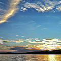 Sunset On Lake Wentworth by Richard Lent