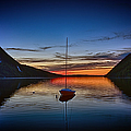 Sunset On Lake Willoughby by John Haldane