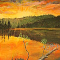 Sunset On Navajo Lake by Ornon Shaw