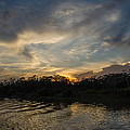 Sunset On The Amazon 1 by Allen Sheffield