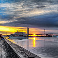 Sunset On The Docks by Paradigm Blue