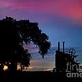 Sunset On The Farm by E B Schmidt