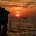 Sunset On The Gulf Of Mexico by Lora Duguay