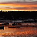 Sunset On The Harbor by John Wall
