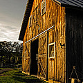 Sunset On The Horse Barn by Edward Fielding