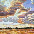 Sunset On The Lake by Elizabeth Elkin