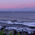 Sunset On The Marginal Way In Ogunquit Maine by Chris Whiton