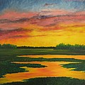 Sunset On The Marsh by Darla Brock